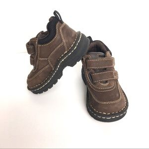 Toddler shoes brown leather thick, size 5